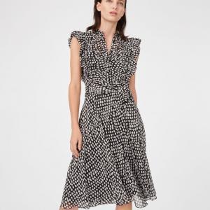 Quality Summer Ruffle Polka Dot Midi Dress Women Casual Dresses Ladies for sale