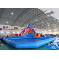 China Sea World Theme Water Park Inflatable , Inflatable Water Park with Pool and Slide on sale