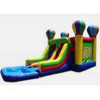 Wholesale Custom Design Air Balloon Double Water Slide With Water Slide And Pool from china suppliers