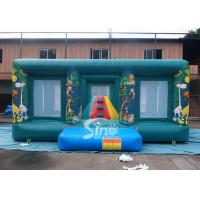 China 6x5 mts indoor kids jungle inflatable jumping castle with small climbing tower complying on sale
