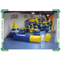 Wholesale 0.9mm PVC Tarpaulin Inflatable Paintball Bunkers 40pcs Blue and Yellow from china suppliers