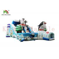 Wholesale Custom Ice And Snow World Inflatable Dry Slide With Bouncy Course Waterproof from china suppliers