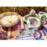 Wholesale Fiberglass Space Bowl Water Slide / Outdoor Swimming Pool Slide For Hotel Resort from china suppliers