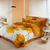 Wholesale Luxury Yellow Polyester Bed Sets , Microfiber Polyester Cotton Quilt Covers Sets from china suppliers
