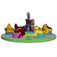 Buy cheap Qiangli Theme Park Rides , Rotating Happy Bear Cup Rides For Indoor / Outdoor from wholesalers