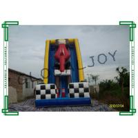 Wholesale Racing Car Inflatable Slide for Adults , Bounce House Water Slide from china suppliers