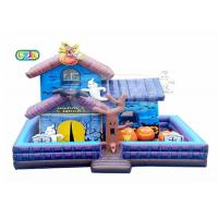 Buy cheap Halloween Haunted House Inflatable Bounce House Combo With Blower Maintenance from wholesalers