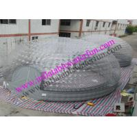 Wholesale Two 8m Combined Inflatable Bubble Tent , Event Clear Gray PVC Dome Tent from china suppliers