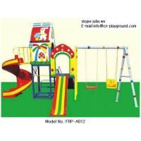 Wholesale High quality Outdoor FRP Plastic playground , kids slide and swing set from china suppliers