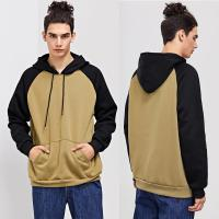 Wholesale Winter Wholesale Men Cut And Sew Hooded Sweatshirt from china suppliers