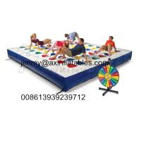 Wholesale popular kids outdoor Inflatable track for twister game,color dot game for adults from china suppliers