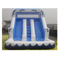 Wholesale Three lines Inflatable Water Slide With Pool For Kids / Adults Inflatable Slide Park from china suppliers