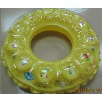 China 45x45 cm Inflatable Swimming Rings For Kids , Yellow Air Swimming Pool Rings on sale
