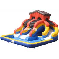 China Commercial Inflatable Bounce House With Three Playground Slide 10M * 8M * 5M on sale