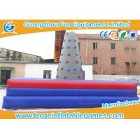 Wholesale Square Inflatable Sport Games , Inflatable Rock Climbing Wall For Commercial Events from china suppliers