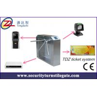 Quality Tripod turnstile Electronic Ticketing Systems , 1D 2D Bar Code Support for sale