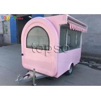 China Popular Mobile Food Trailer Safe Mobile Catering Units Dual Towing Chains on sale
