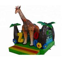 China Inflatable Bouncer Hous  4X4Meter Inflatable Jumping Castles  Inflatable Giraffe Combo on sale