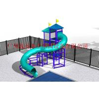 Wholesale Outdoor Fiber Glass Kid Water Slides , Aquasplash Closed Water Slide 6m - 8m from china suppliers