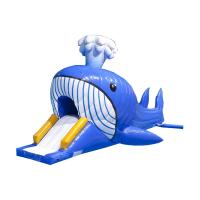 Wholesale Aquatic Park Games Jumbo Inflatable Dolphin Water Slide With Obstacle Tunnle from china suppliers