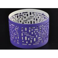 Wholesale Purple Ceramic Votive Candle Holders Electroplating Golden Inside from china suppliers