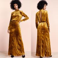 Wholesale Clothing Fashion Women Maxi Velvet Dress Casual from china suppliers