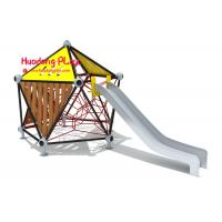Commercial Children'S Playrope Play Equipment  By Big Stainless Steel Slide Single Square Type