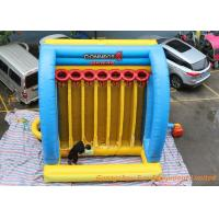 Wholesale Giant Inflatable Sport Games Connect 4 Basketball Hoops Yellow / Blue / Red from china suppliers