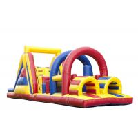 China Outdoor Games Obstacle Course Jump House , Moon Bouncy Obstacle Course Rental on sale