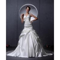 Wholesale White Thick Autumn couture V Neck Wedding Dresses Women drop waist Wedding gowns from china suppliers