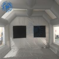 Quality 7 M Grey Inflatable Spray Booth Water Resistance With Storage Bag for sale