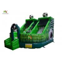 China Green Football Childrens Inflatable Bouncy Castle Jumping House Combo Slide For Party on sale