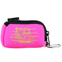 Quality Pink or Custom Waterproof zipper Small Cosmetic Neoprene Pouches Bags 9(L)cm X 6(W) cm for sale