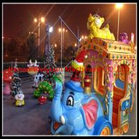 Buy cheap 16 seats Amusement Rides Big Amusement Park Equipment Elephant Trackless Train from wholesalers