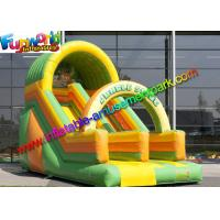 Wholesale Kids Commercial Inflatable Slide , Jungle Tree Inflatable Cartoon Dry Slides from china suppliers