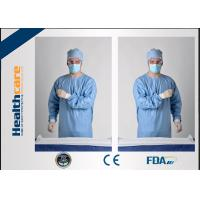 Buy cheap Blue Disposable Surgical Gowns Sterile Reinforced Knitted Wrists Gowns ISO CE from wholesalers