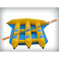 Wholesale Funny 6 Persons Yellow Inflatable Boat Toys 0.9mm Pvc Tarpaulin from china suppliers