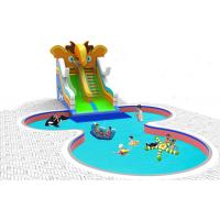 China Happy Elephant Inflatable Water Slide Plastic Material For Amusement Water Park on sale