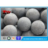 Quality Good Wear Resistant steel grinding balls , forging and casting ball milling media for sale