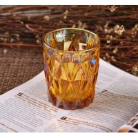 Wholesale Colorful Glass Candle Jar Decorative Glassware With Color Ion Plating Finish from china suppliers