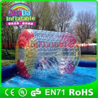 Wholesale QinDa Interesting parent-child game inflatable water roller water rolling ball from china suppliers