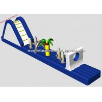 Wholesale 3mH Inflatable Water Games With Slide , Inflatable Water Obstacle For Pool from china suppliers