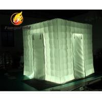 Quality Promotional Inflatable Event Tents , Rental Two Doors inflatable photo studio With Air Blower for sale