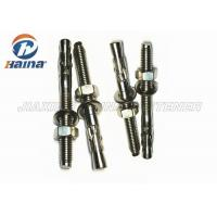 China Stainless Steel Concrete Wedge Anchors A2 A4 Machine Thread With Nut / Washer on sale