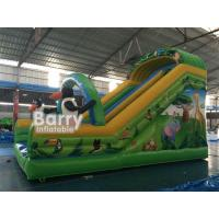 Wholesale Cartoon Minion Theme Inflatable Floating Water Slide 7*4*5m Water Park Slide For Kids from china suppliers