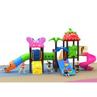 China Galvanized Material Kids Outdoor Plastic Slide Pole 76 Diameter Residential Playground on sale