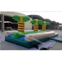 China palm tree inflatable water slide , long inflatable water slide for kids on sale