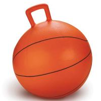 Wholesale Non Toxic Space Hopper Ball Basketball Inflatable Toy Bouncing Ball With Handle from china suppliers