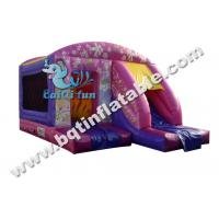 Quality Inflatable princess combo,inflatable bounce with slide,Digital printing combo for sale