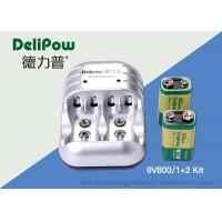 Wholesale 9V 800mAh Rechargeable Battery Kit , 6F22 Rechargeable Battery With Charger from china suppliers